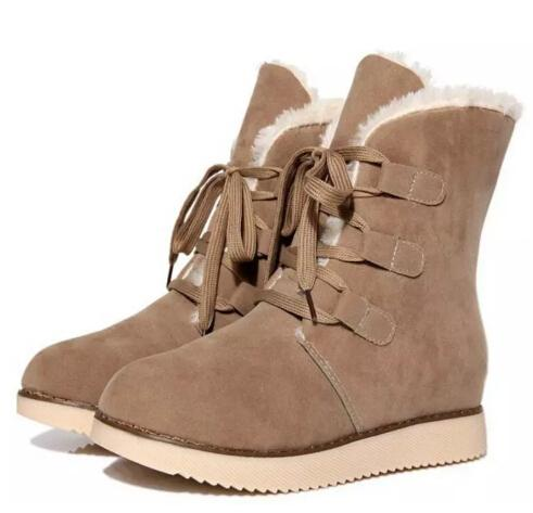 snow warm plush ankle boots