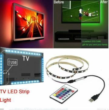 RGB LED Strip Light Bar TV Back Lighting Kit Remote Control