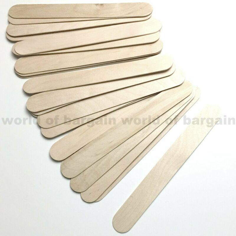 25 pcs EXTRA JUMBO Wooden Popsicle Sticks 1 x 8