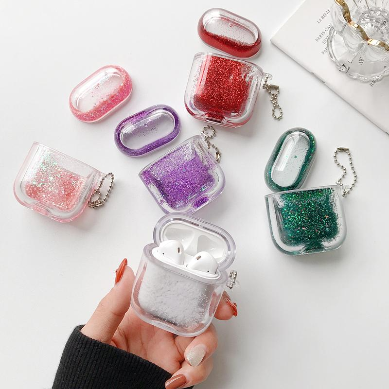 Quicksand Sparkle Case Cover for Apple AirPods