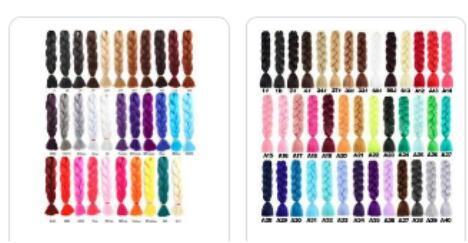 braid hair colors