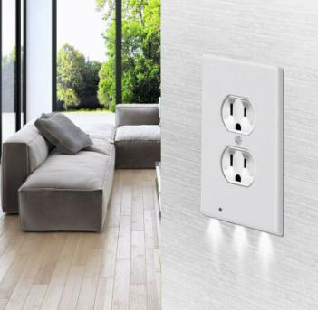 Wall Plate Outlet Cover w/ LED Night Lights