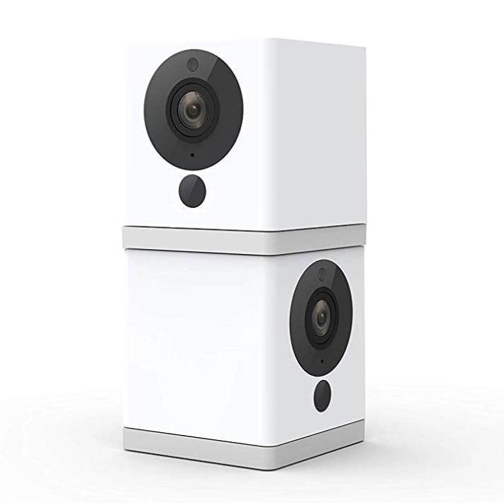 1080p HD Indoor Wireless Smart Home Camera, Works with Alexa & the Google Assistant (Pack of 2)