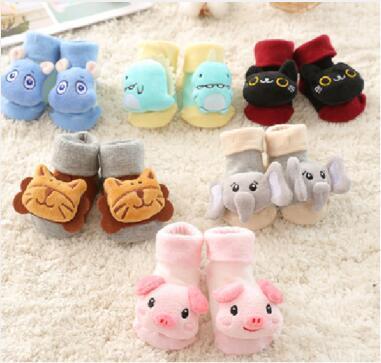 婴儿地板防滑袜子,纯棉