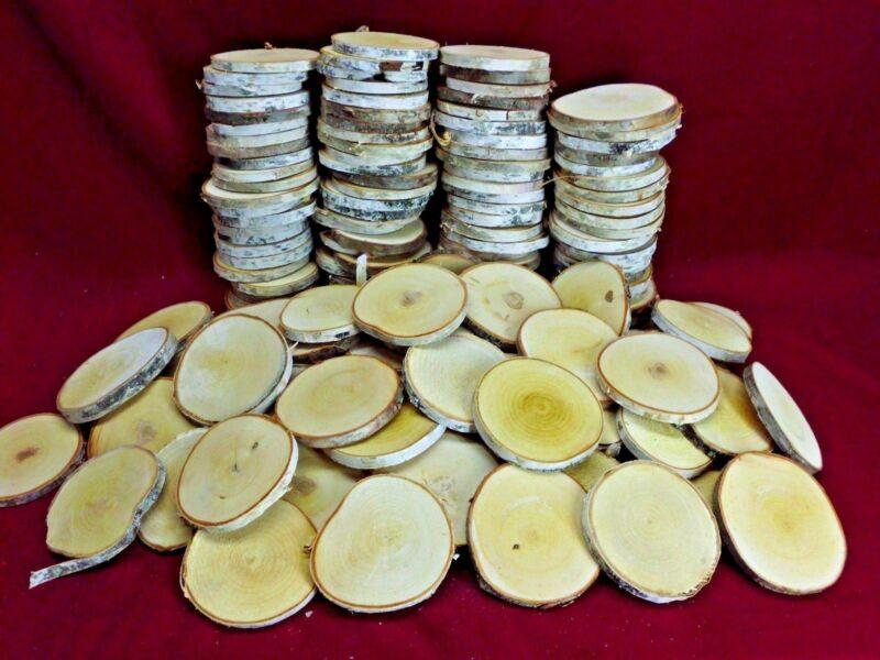 25 BIRCH WOOD SLICES 3 1/2