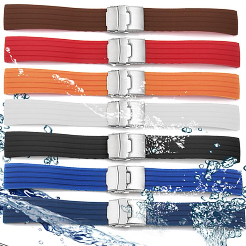 watch strap 22mm 24mm Universal Watch Band Silicone Rubbe
