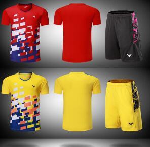 马来西亚比赛羽毛球服男式/女式运动衫快干乒乓球短裤