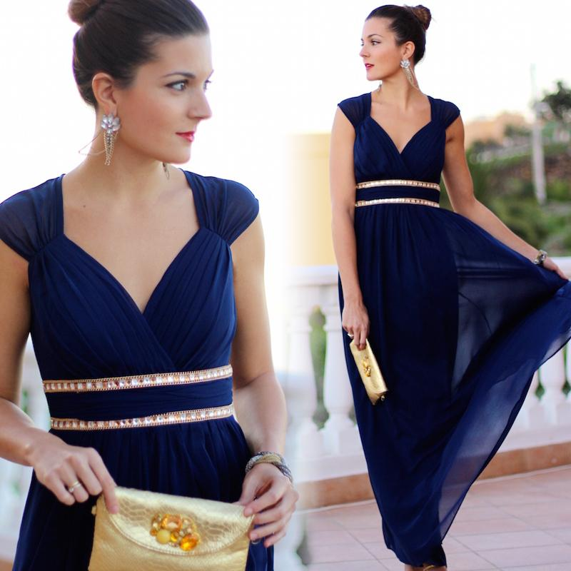 Elegant V-Neck Long Evening Dresses