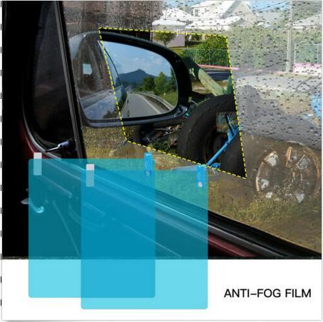 2xCar Side Window Glass Film Waterproof Anti-Fog Rain-Proof Car Sticker Membrane