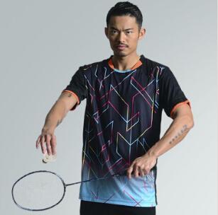 林丹新羽毛球穿短袖衬衫男女网球t恤吸汗透气运动服