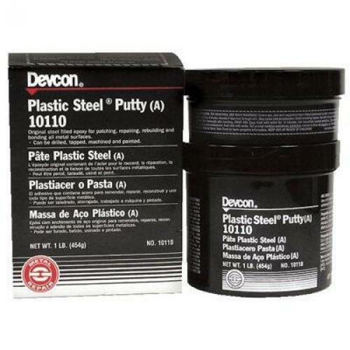Devcon Plastic, Steel Epoxy Putty 1 Pound - 1 Each