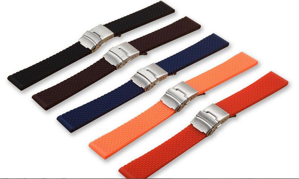 18mm 20mm 22mm 24mm Soft Silicone Bracelet Band Strap
