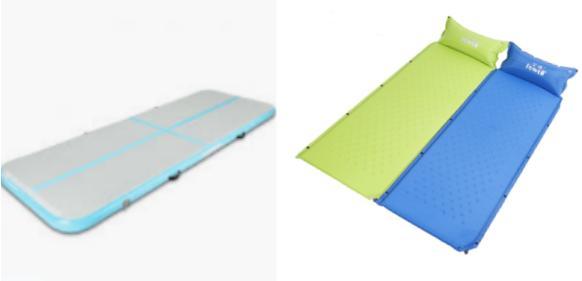 可充气的垫子:tapis gonflable gym