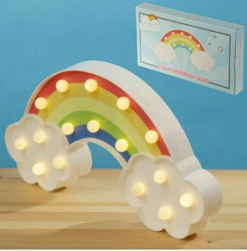 Cloudy Rainbow Funky Light Novelty Standing Night Lamp