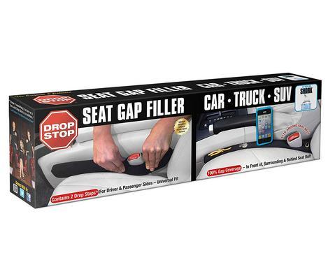 Drop Stop - The Original Patented Car Seat Gap Filler (AS SEEN ON Shark Tank) - Set of 2