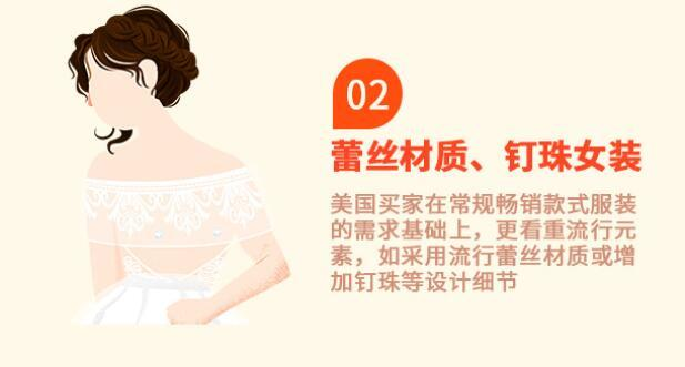 蕾丝材质、钉珠女装