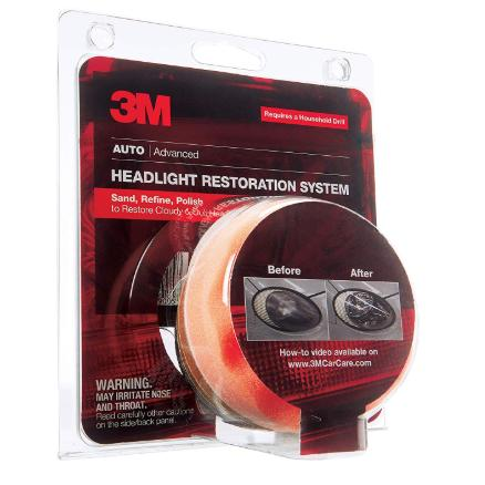 3M Headlight Restoration System, Sand, Refine, and Polish to Restore Cloudy and Dull Headlights, Drill Application