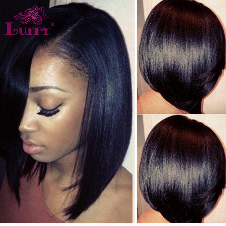 8a Short Bob Human Hair U Part Bob Cut Wigs With Side