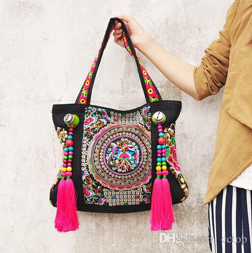 National Manmade Handmade Bag Women Embroidery Bag