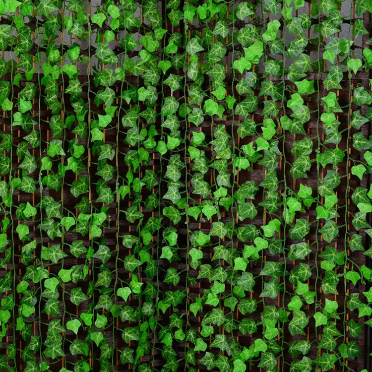 250cm Plastic Climbing Vines Simulation Green Leaf Plant Artificial Plant Virginia Creeper Home ...