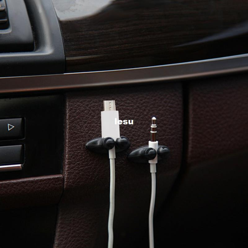 fashion hot multifunctional adhesive car charger line clasp clamp headphone usb cable car clip. Black Bedroom Furniture Sets. Home Design Ideas