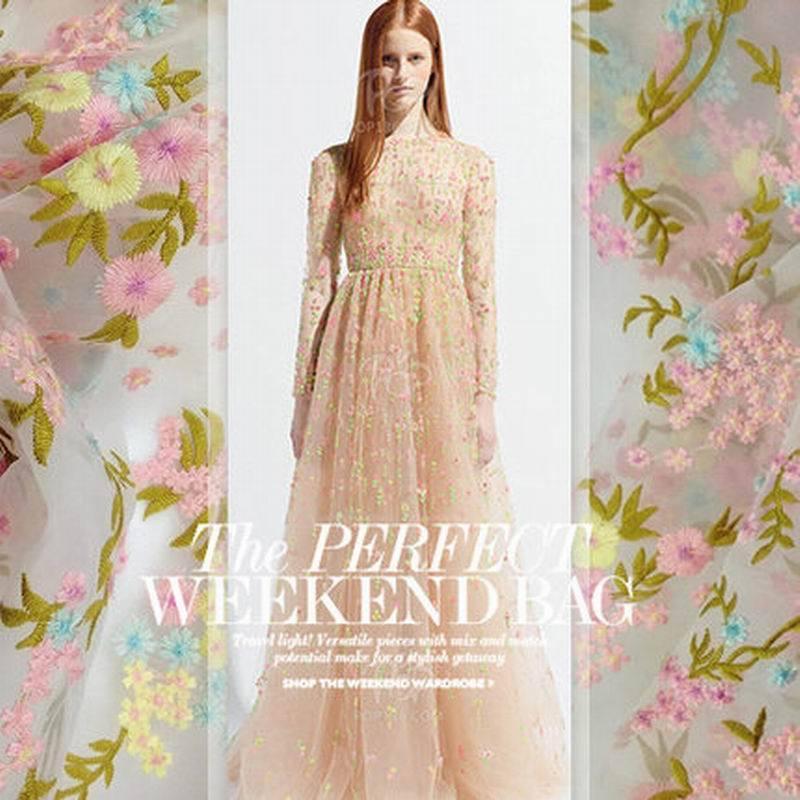 Gorgeous lady dress tulle lace fabric diy luxury