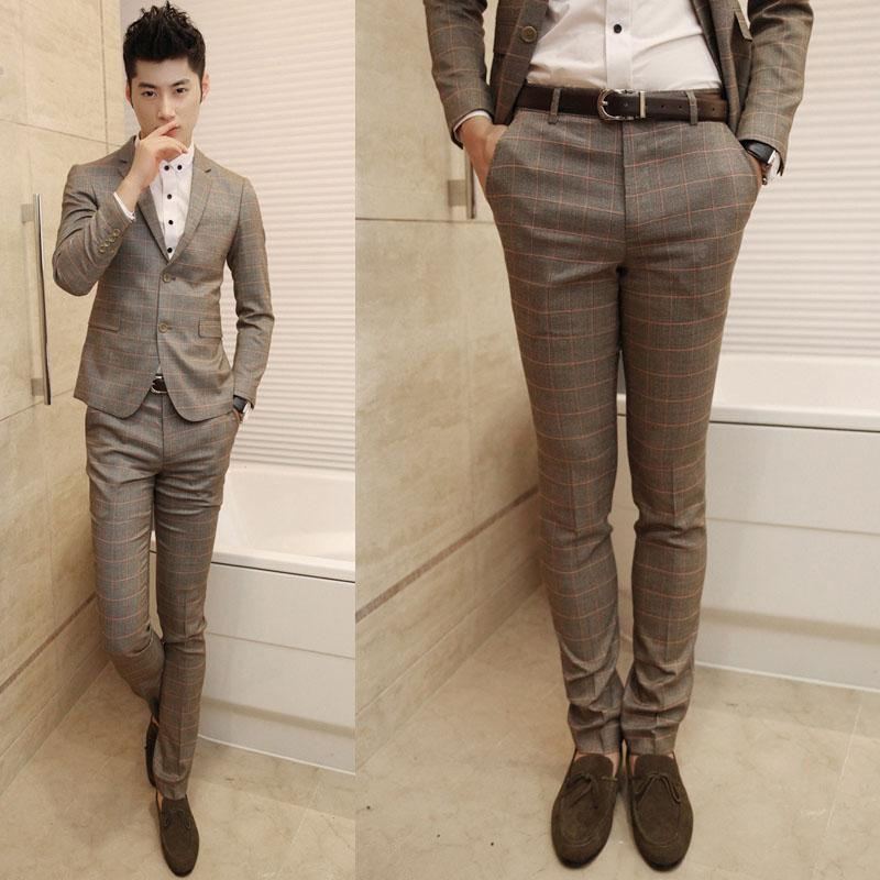 Mens Skinny Suit Pants