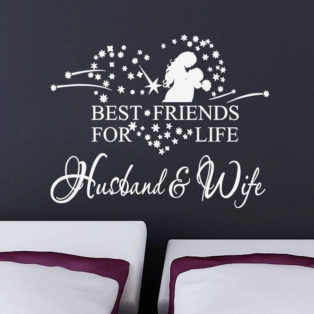Star Bedroom Decor Star Heart Hug Couples Vinyl Romantic Wall Stickers Bedroom Wall