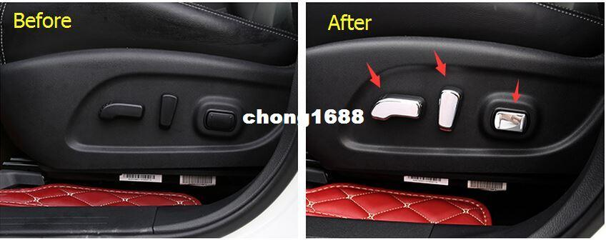 For Nissan Murano 2015 Abs Power Seats Button Chair Adjustment Cover Trim Set Interior Car