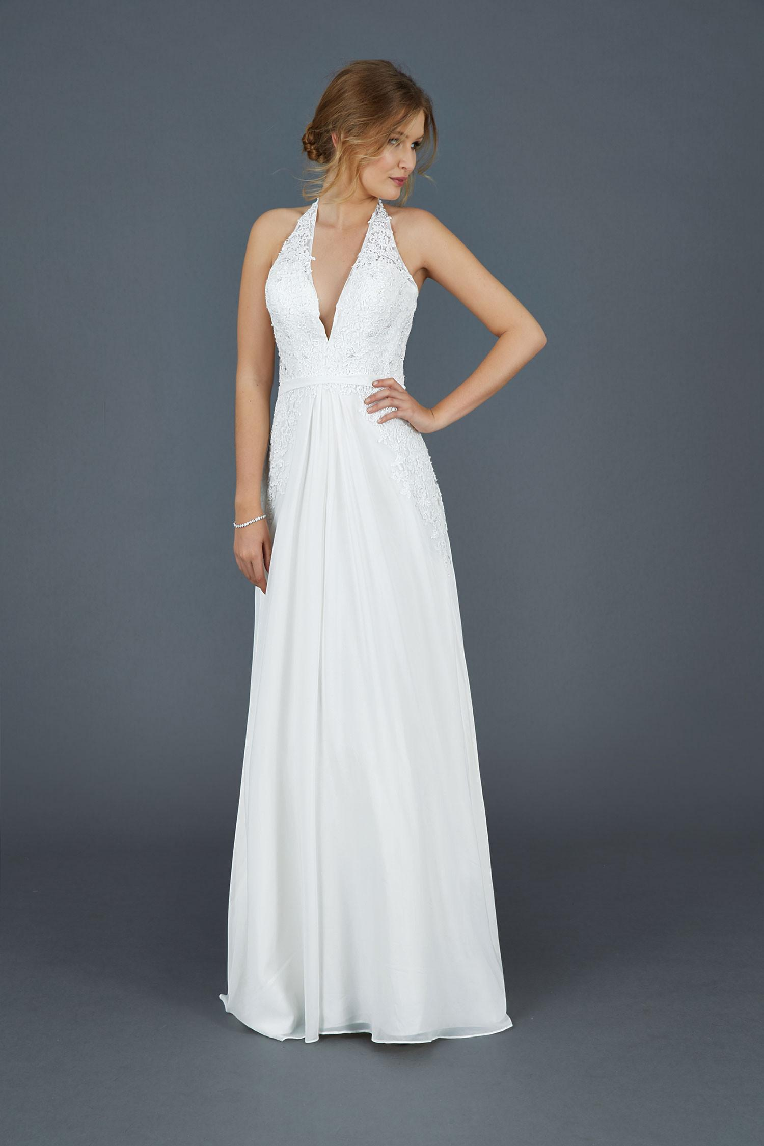 2016 Fashion Plunging Necklines Wedding Dresses Cheap