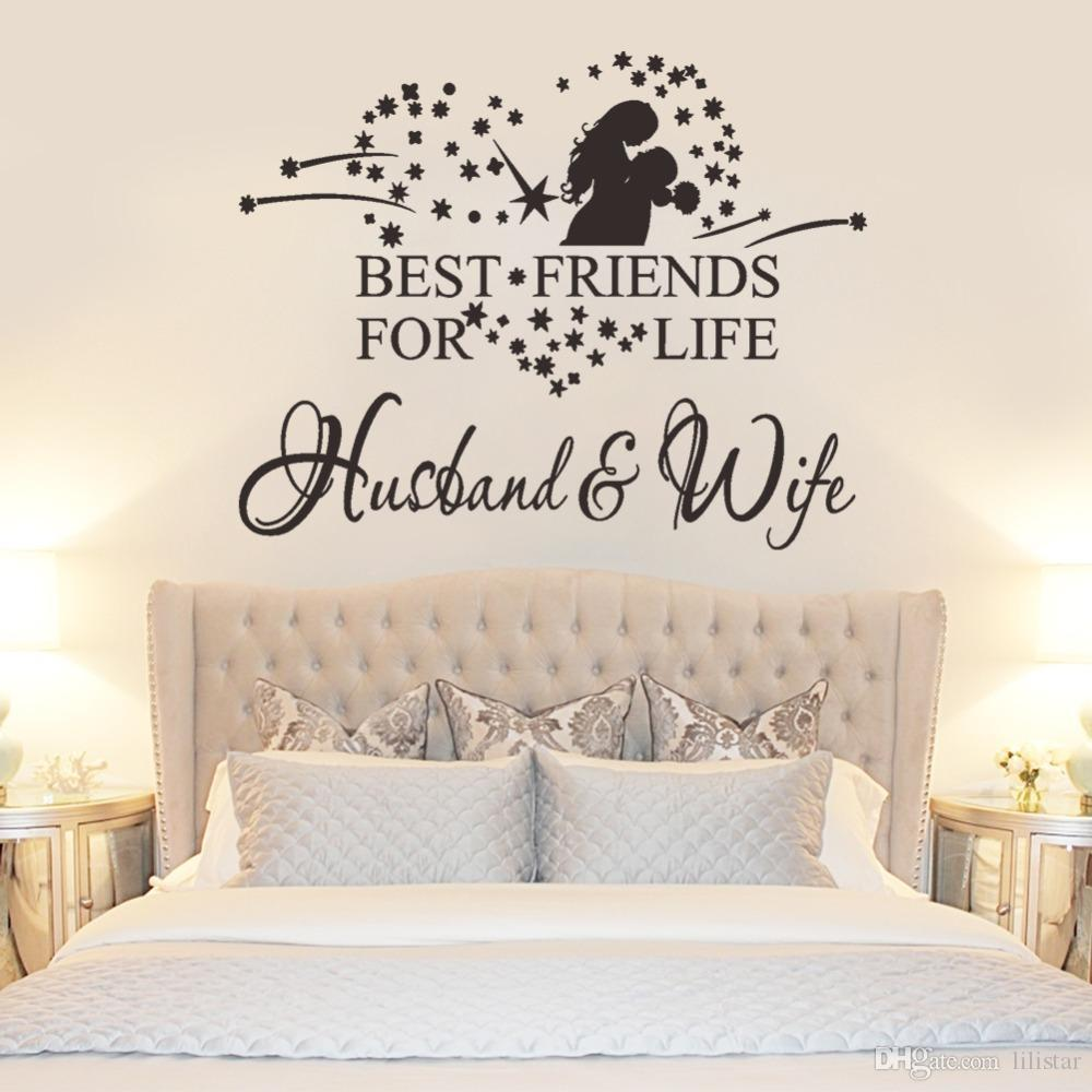 Husband And Wife Best Friend Quote Wall Stickers Home Decor Vinyl Bedroom Living Room Decoration Waterproofing Wallpaper Glow Deco