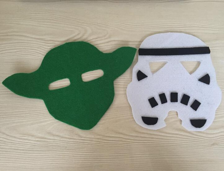 cartoon star wars felt masks yoda white soldier children anime cosplay masquerade mask halloween party decoration kids gift pretty masquerade masks prom - Star Wars Decorations