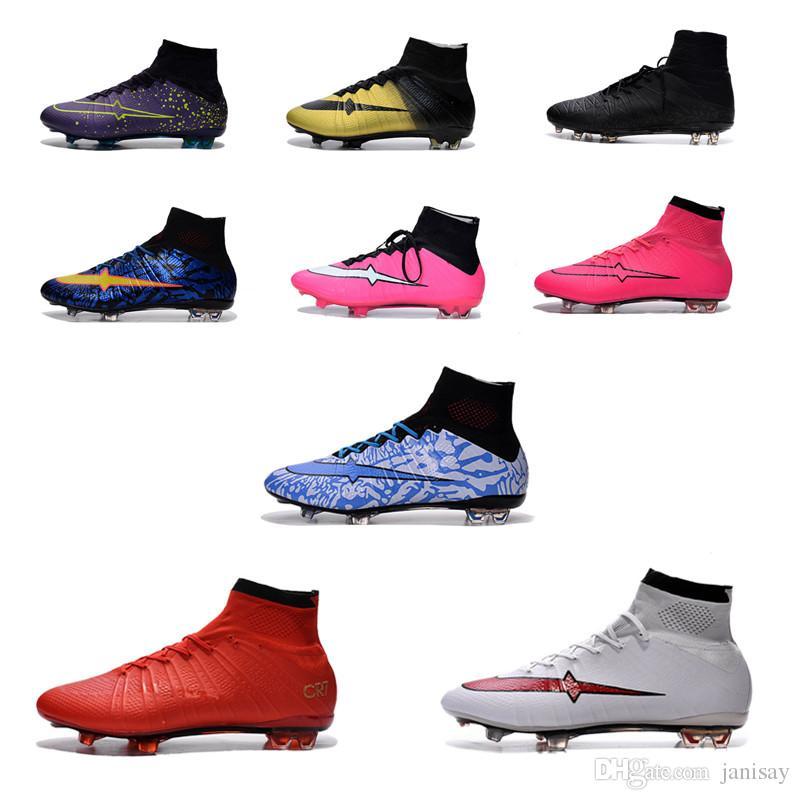 2016 Superfly FG CR7 Football Boots Men Soccer Shoes Botas Futbol Hombre Outdoor Soccer Cleats Soccer Boots