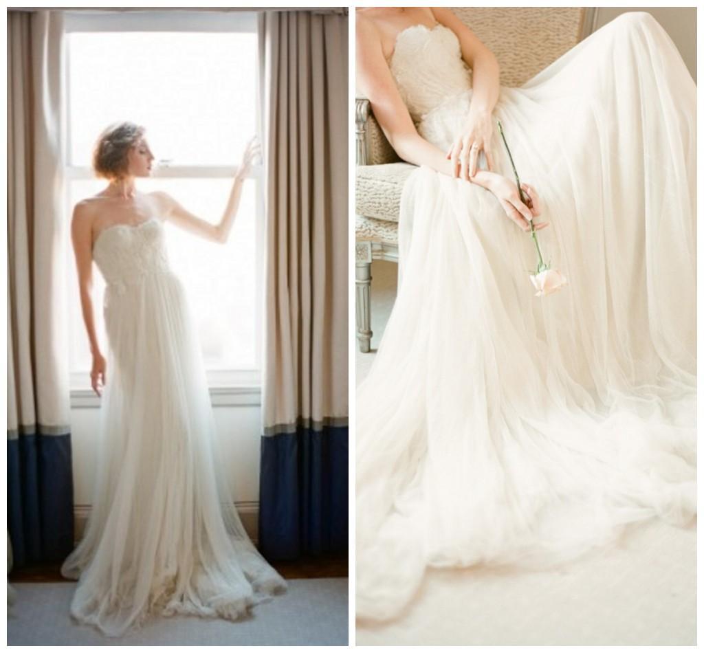 Princess Wedding Dresses Sweetheart Simple Empire Waist