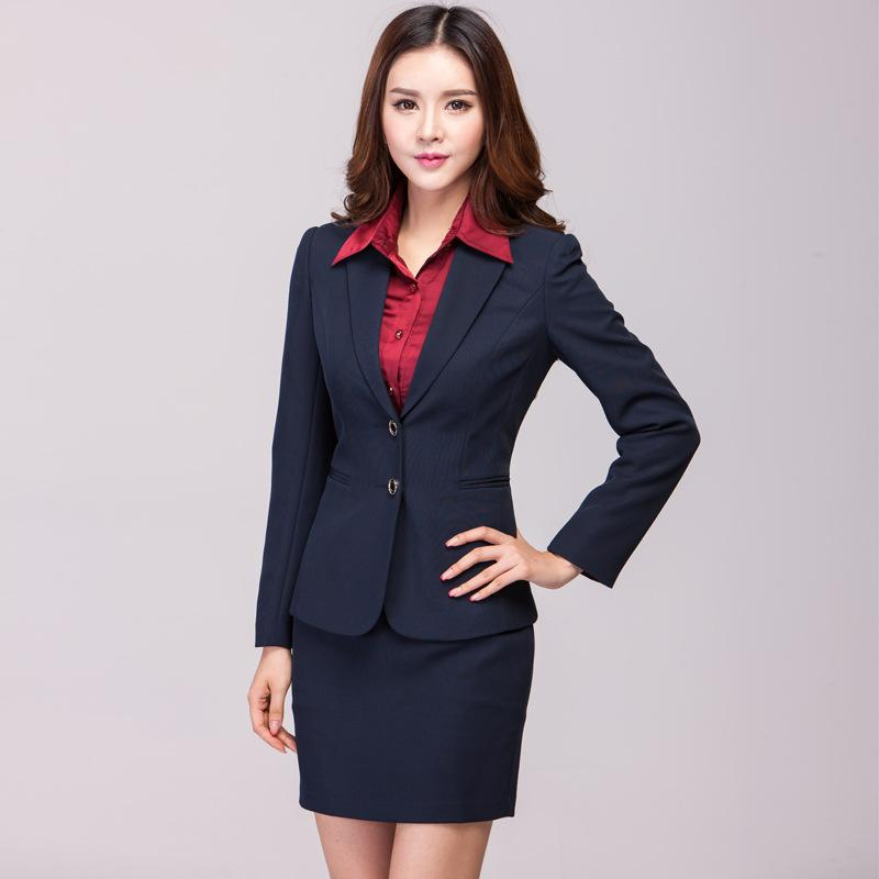 Spring Summer Office Uniform Designs Women Work Wear New 2015 Silm ...