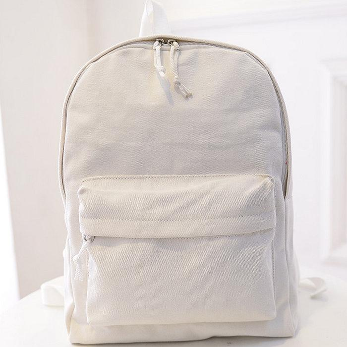 White MUJI Day Pack Classic School Bag Good Daypack Newest . 2270cde871