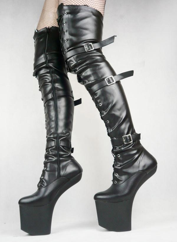 Sm Shoes Sexy Shoes Hoof Heel Boots Thigh High Boots No.Wg12 ...
