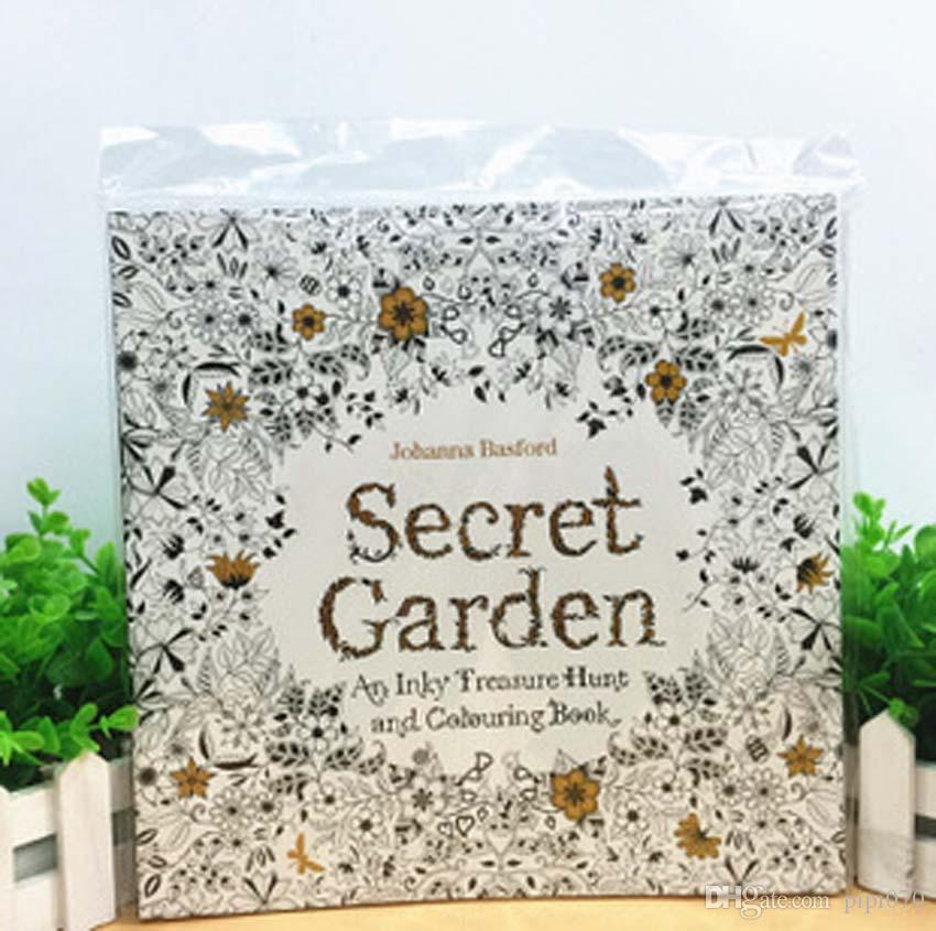 2015 Secret Garden Coloring Book Art Adult Hand Drawn Pencil Antistress Graffiti Painting Drawing Cartoon