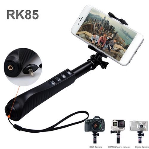 rk85e 7 in 1 aluminium alloy selfie stick handheld monopod rk85 e shutter zoom bluetooth self. Black Bedroom Furniture Sets. Home Design Ideas
