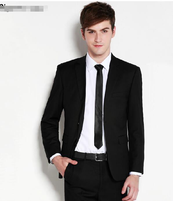 New Fashion Groom Wedding Dress Casual Man Suit Pure Color Groom ...