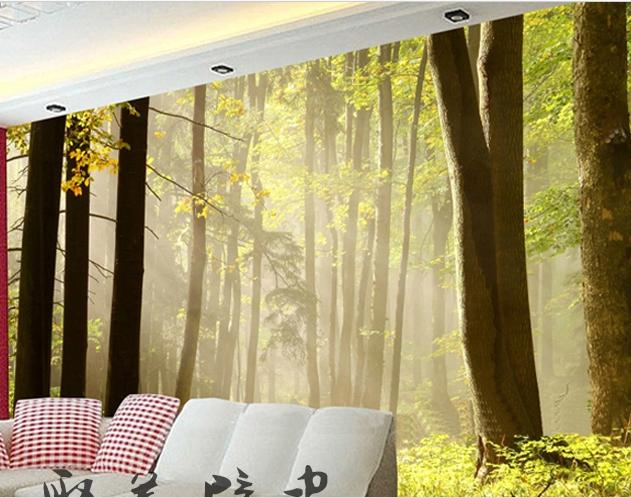 new can be customized home decor big wallpaper tv wall home decor customized promotional fashion logo printed