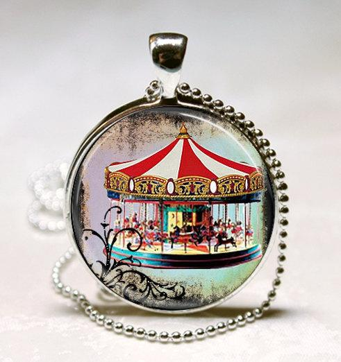 merry go round necklace carousel jewelry carousel horse