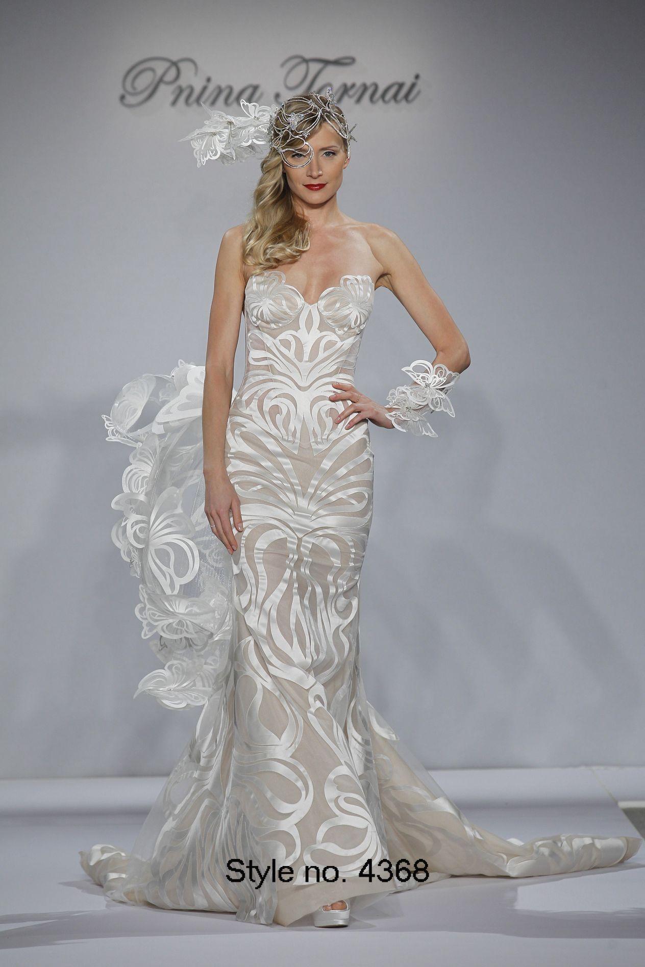 Pnina Tornai 2015 Mermaid Wedding Dresses Butterfly