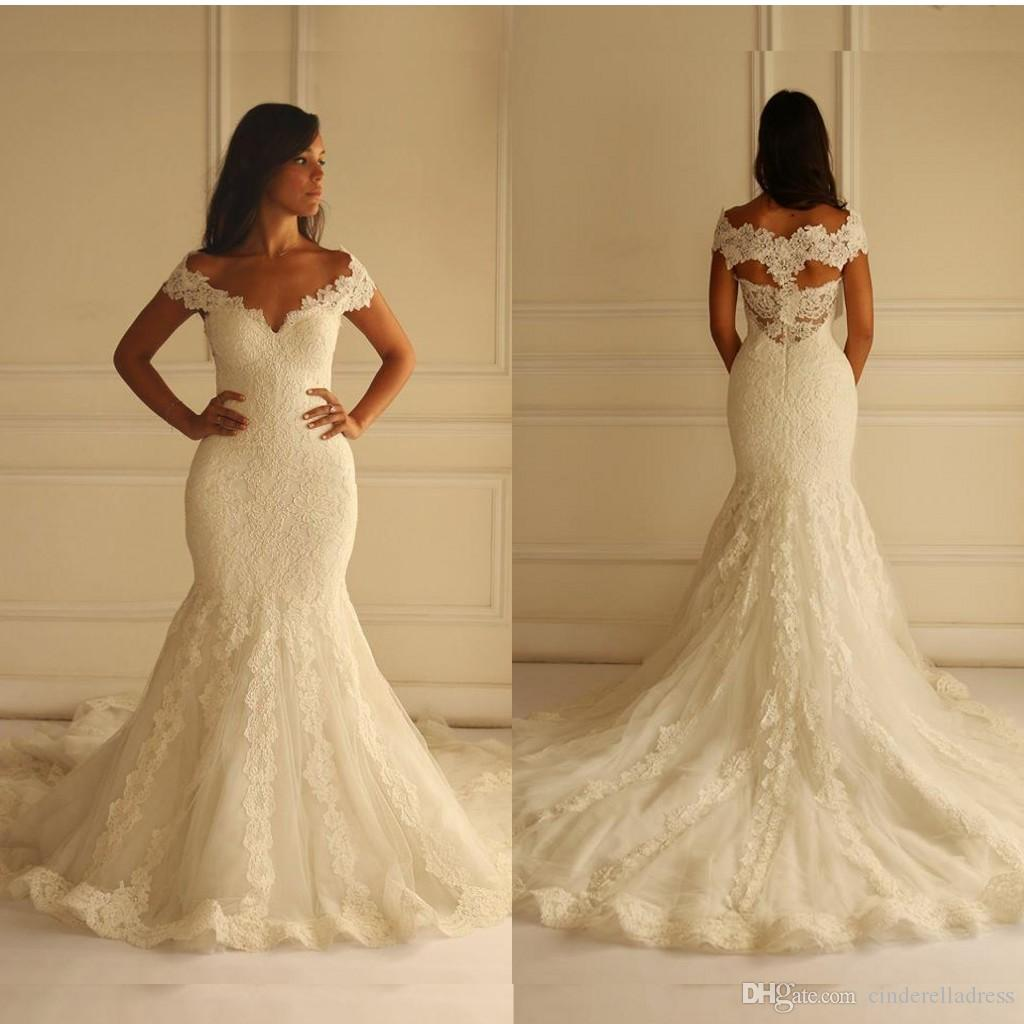 Elegant 2016 Maison Yeya Wedding Dresses V Neck Full Lace