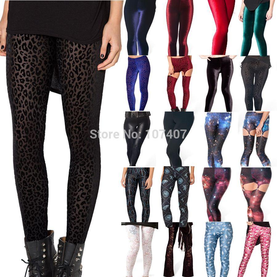 Velvet Leggings Plus Size