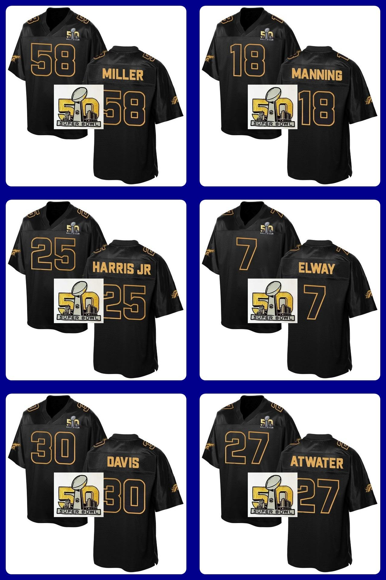 2016 Pro Line Black Gold Collection Football Jerseys 58 Miller 18 ...