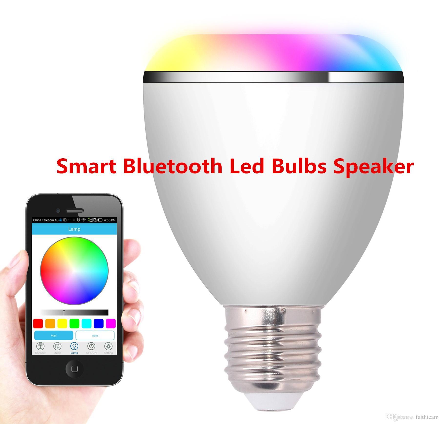 Smart bluetooth led bulbs speaker 6w blubs and 3w speaker for Bluetooth bulb