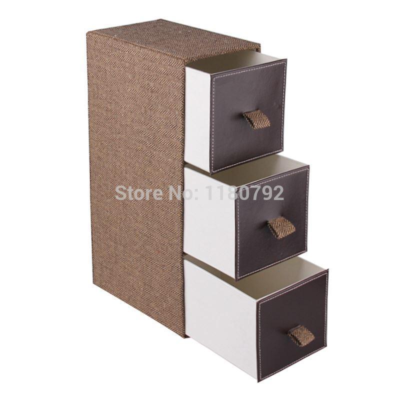 US Stock  ROWLING  Fabric Storage Bins Box 3 Drawers Desktop Portable  Jewelry Organizer Box. Best Us Stock rowling Fabric Storage Bins Box 3 Drawers Desktop