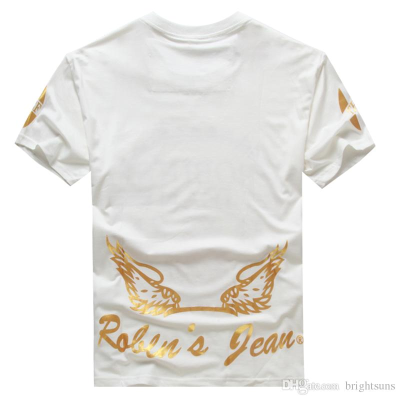 2016 new white robin tshirt mens famous brand men robin for Best quality mens white t shirts