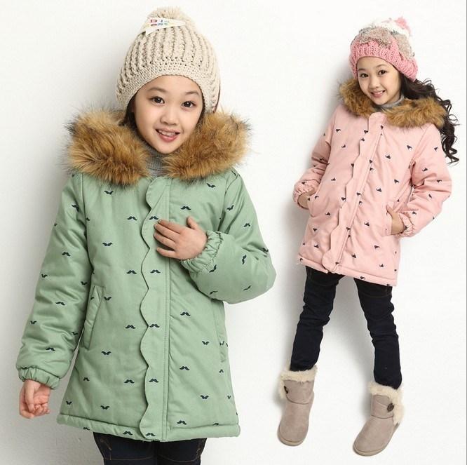 Детское 2014 на девочку новая коллекция Одежда зимы хлопок Одевает зиму стиль Больш детские детские зимний куртка